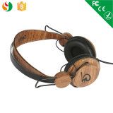 Nuovo Economic Wood Headphone Earphone per Computer