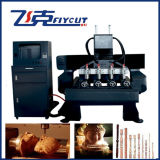Router do CNC de 5 linhas centrais, CNC Cutting Machine de High Efficiency com Rotary Axis