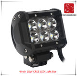 도로 빛과 LED 모는 빛 떨어져 SUV 차 LED를 위한 4inch 18W 크리 사람 LED 표시등 막대 물 증거의 LED 차 빛