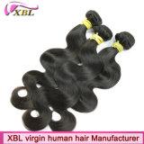 Cheveux de trame de vente en gros de Vierge de corps de cheveux brésiliens de vague
