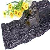 Testi fissi di lavoro a maglia del merletto del ricamo nero per gli indumenti Accessoreis