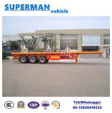 50-60t 40FT de 3 eixos do recipiente reboque Flatbed Semi para o transporte