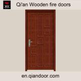Porte coupe-feu composée en bois de noix noire