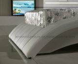 A044革Furntiureの新しい寝室のベッド