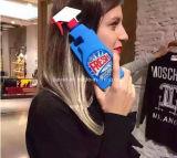 De Reinigingsmachines die van het Toilet van Moschino van de manier AchterGeval van de Telefoon van het Silicone van de Fles het Zachte Mobiele voor iPhone schoonmaken