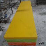 黄色く装飾的な壁パネルのアクリルの固体表面