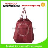 Sac d'emballage réutilisable de sac à dos de cordon de polyester