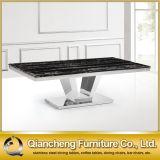 Marble Modern 6 Seaters Mesa de jantar e cadeira de aço inoxidável
