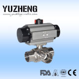 Válvula de esfera sanitária do flutuador de Yuzheng com atuador pneumático