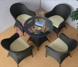 Mobília ao ar livre do Rattan do PE do lazer da casa de café do jardim do balcão