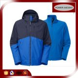Revestimento funcional Wind-Proof do OEM 3 in-1 Softshell para homens