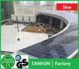 Энергосберегающая домашняя польза 5kw 6kw с электрической системы PV решетки солнечной, самого лучшего цены с системы решетки солнечной