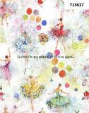 Ткани 100% полиэфира перлы шифоновые с печатание для платья