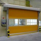 Porte à grande vitesse en plastique de remontée pyramidale de PVC de garantie (HF-184)