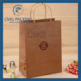 Tiwst Paper Handle (CMG-MAY-041)를 가진 인쇄된 Kraft Paper Bag