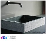 Shanxi-schwarzes Natur-Stein-Granit-Wäsche-Bassin