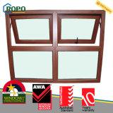 Nueva ventana plástica del toldo de la doble vidriera de los diseños UPVC/PVC