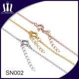 Encadenamiento del collar de la plata esterlina Sn002 925 con la extensión