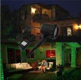 El jardín rojo del laser del verde enciende la iluminación del proyector del paisaje para los acontecimientos del festival del partido de la familia