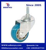 Qualitätsblauer Farben-Polyurethan-seitliches sperrenfußrollen-Rad