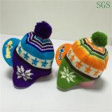 Le jacquard de mode de l'hiver tricoté badine le chapeau d'Earflap