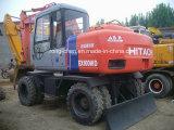 Máquina escavadora razoavelmente usada da roda de Hitachi Ex100wd-2 para a venda