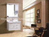 PVC moderno do gabinete de banheiro do gabinete de banheiro da bacia cerâmica