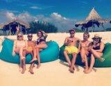 Het Kamperen van de Slaapzak van de Zak van de Zitkamer van het strand Luie Opblaasbare Ontmoetingsplaats Lamzac