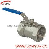 Válvula de bola sanitaria de acero inoxidable de una pieza