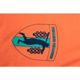 T-shirt 100% bon marché en gros en bloc de V-Collet de polyester d'hommes