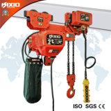 strumentazione di sollevamento elettrica della gru Chain del gruppo di lavoro dell'Basso-Altezza libera 2t