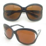 Gafas de sol vendedora caliente del plástico y del Tr90 del marco con la lente polarizada