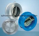 Clapets anti-retour de gaufrette simple de plat d'acier de fonte