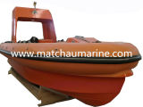 Abrir el tipo bote de salvamento inflable de la defensa del casco rígido de alta velocidad