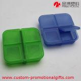 Ежедневный Pillbox пластмассы решетки картины 4 квадрата пользы