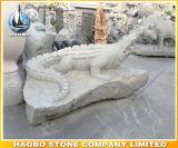 Standbeeld van de Krokodil van het Beeldhouwwerk van de steen het Dierlijke