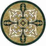 美しい大理石のWaterjet床タイルの円形浮彫りの大理石のタイル