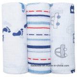El algodón al por mayor promocional de la muselina del bebé Swaddle combinado hecho en China