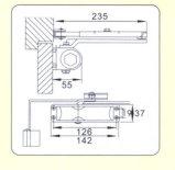 Дверь функции новых конструкций Европ стабилизированная - более близко (DS-038F)
