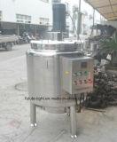 Food Grade Stainless Steel Calefacción Eléctrica Tanque de mezcla con agitador Top