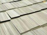 Стена деревянного белого мраморный естественного разделения культурная каменная кроет плитки черепицей гранита