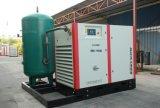 Compresseur d'air combiné de vis de refroidissement à l'air avec le réservoir d'air