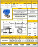 Valvola di regolazione motorizzata 304 della sfera dell'acciaio inossidabile 316 di Cwx-60p Dn32 DC12V/24V