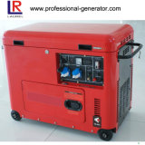 Generatore diesel portatile silenzioso di energia elettrica (5.5kw)