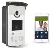 WiFiの無線ビデオドアの電話通話装置のカメラPIR IRの夜間視界アラーム人間の特徴をもつIosのスマートなホーム
