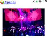 A todo color de interior P10 para la pantalla de visualización curvada de LED de la alameda de compras