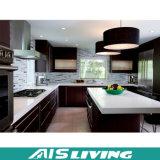 Mobília de madeira em forma de L dos gabinetes de cozinha da grão (AIS-K298)