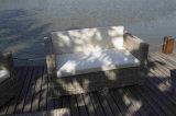 Im Freien Weidenmöbel-Sofa