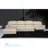 Самомоднейшая живущий софа Recliner L-Формы комнаты для дома (HW-8196S)