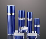 Botella privada de aire de la loción del tarro poner crema de acrílico azul de Set5 PP para el empaquetado del cosmético (PPC-CPS-047)